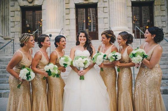 bride and bridesmaids laughing photos by tampa wedding photographer in front of Le Meridien flowers by Debbie Welch with The Bride's Bouquet