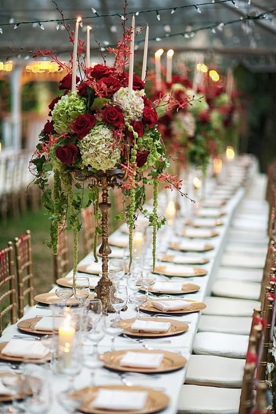 RF Orchid Gardens #Wedding by JSPSTudio. I #Love this Centerpiece and color combination.
