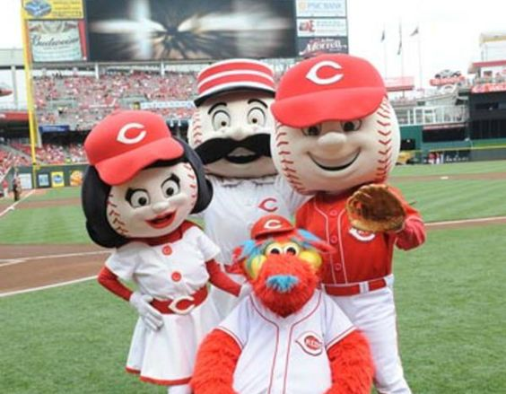 Did you know that the Cincinnati Reds have four different mascots? Mr. Red, Rosie Red, Mr. Redlegs, and Gapper. All four can be seen roaming around Great American Ball Park during Reds home games!