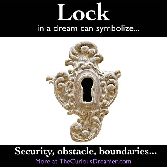 In a dream, a lock can be a powerful dream symbol that represents a challenge in your waking life... More dream meanings at TheCuriousDreamer...  #dreammeaning #dreamsymbol