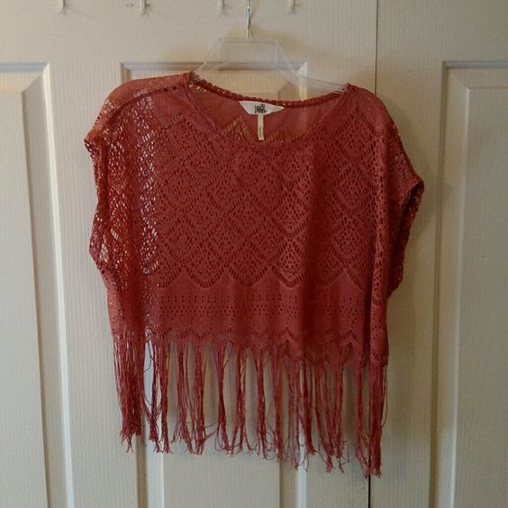 Boho chick sheer crop top Coachella style boho crop top shirt, in great condition only worn a few times. Purchased from Pac Sun and perfect for the summertime! XS/S but fits most sizes because it is a loose, flowy shirt.  It fits me well and I am usually a medium. Black Poppy brand. PacSun Tops Crop Tops