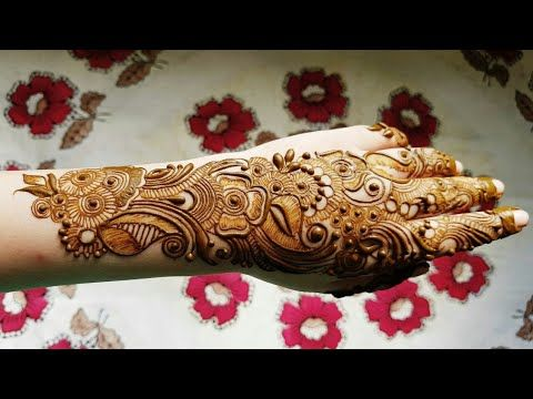Arabic Henna Design With Shading On Backside 2017 Youtube Arabic Henna Designs Arabic Mehendi Designs New Henna Designs