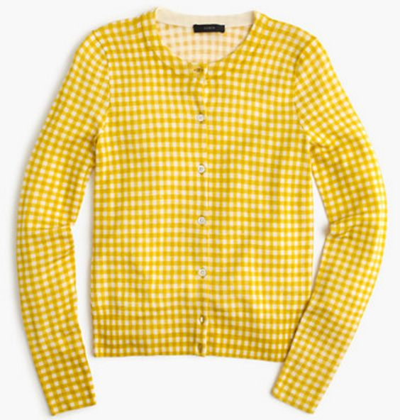 Yellow Gingham Cardigan