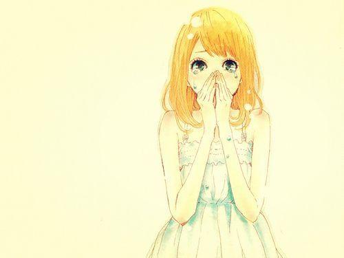 Image Kawaii Fille Manga En Couleur Qui Pleure