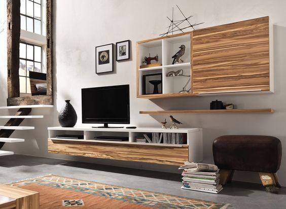 Luxuriöse Wohnwand von AMBIENTE BY HÜLSTA - Premiumqualität für - h lsta m bel wohnzimmer