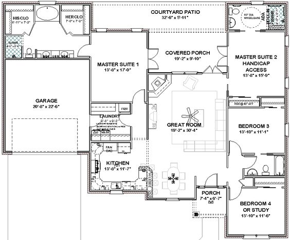 house plans with three master suites Details about Complete