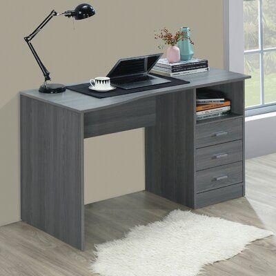 Andover Mills Saulsbury Credenza Desk Wayfair In 2020 Desk With Drawers Classic Computer Desk Modern Computer Desk