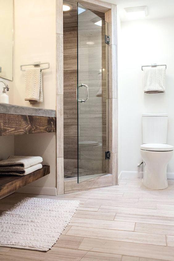 Wood Bathroom Tiles Wood Shower Tiles Faux Wood Tile Bathroom Ideas Small Bathroom Remodel Bathroom Remodel Master Small Master Bathroom