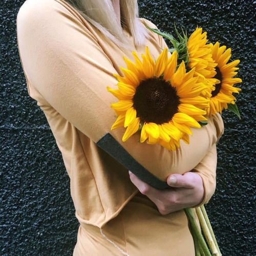 Sunshine is a state of mind  | Sunflowers + Moto Croptop