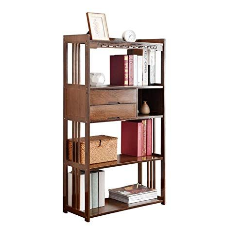 Xuerui Shelves Shelf Solid Wood Bookcase Creative Bookshelf With Drawer Simple Landing Home Storage Rack Mode Creative Bookcases Bookcase With Drawers Bookcase
