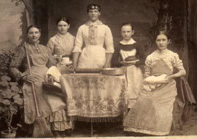 1880s domestics Elizabeth, Annie