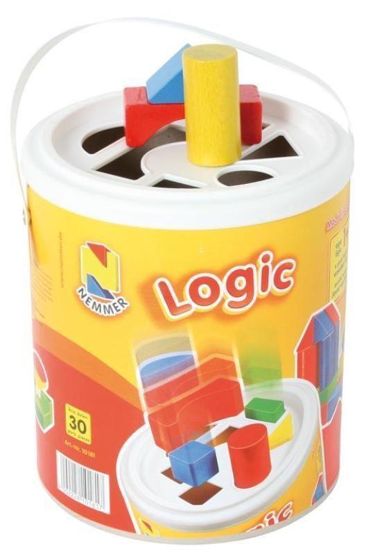Logic Steckspieltrommel 30 farbige Holzbausteine  Ab 1 Jahr 102602