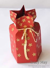 stampin up star gift box