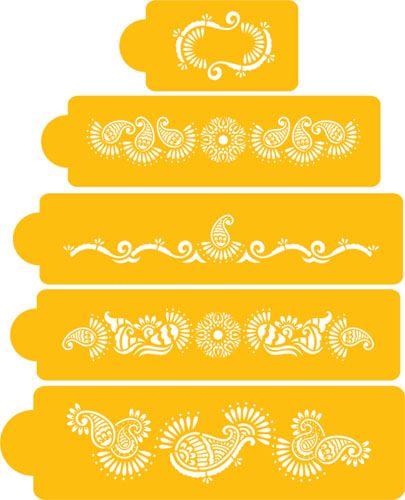 Mehndi Cake Template : Mehndi cake tier set moroccan party pinterest