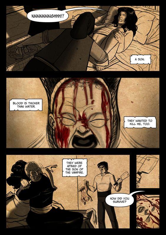 It's a Vampire!!! (page 14) by Gocce & Sejver #vampire #horror #comics #fantasy