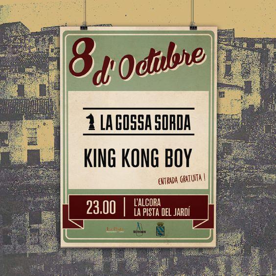 """""""8 d'octubre"""" -  Alcora la gossa sorda + king kong boy de: miquel andres"""