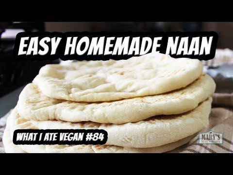 This Vegan Naan Is Very Simple And Easy To Make The Inspiration Was The Naan From My Favourite Indian Restaurant Naan Recipe Vegan Naan Oil Free Vegan Recipes