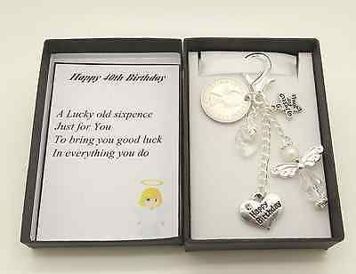 Happy #birthday clear angel #lucky sixpence #gift.mum.godmother.auntie.daughter,  View more on the LINK: 	http://www.zeppy.io/product/gb/2/252278961188/