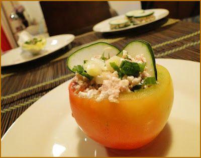 Dukan Diet :: Receitas: Tomate Recheado