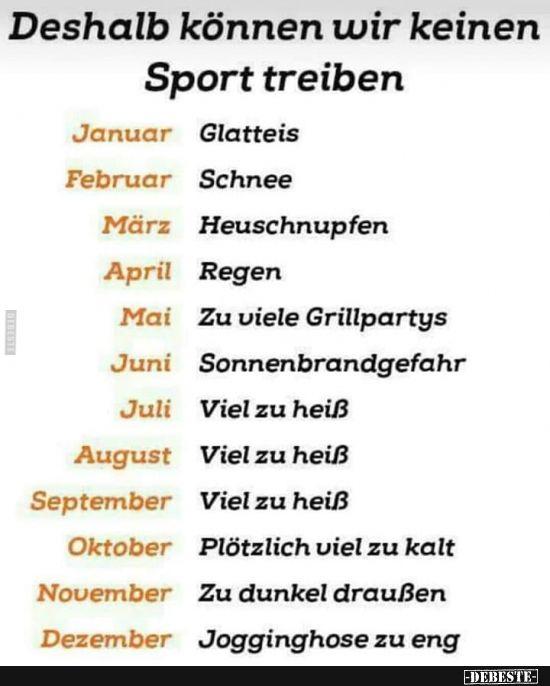 Deshalb Konnen Wir Keinen Sport Treiben Lustige Bilder Spruche Witze Echt Lustig Witze Lustige Bilder Neujahr Spruch Lustig