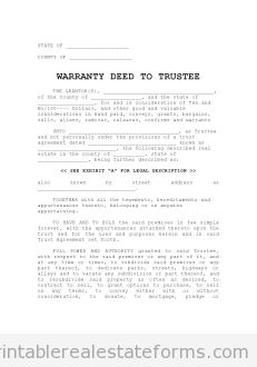 free warranty deed to trustee printable real estate forms printable real estate forms