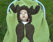 Moose Baby Car Seat Cover