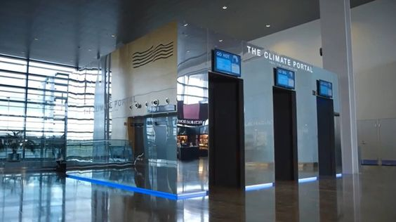 Klimakammer im Flughafen simuliert Wetter am Reiseziel
