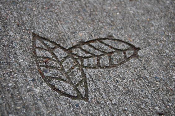 etched leaves