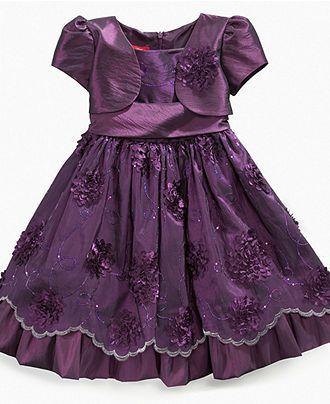 Princess Faith Girls Dress, Little Girls Shrug Dress - Kids Dresses - Macy's