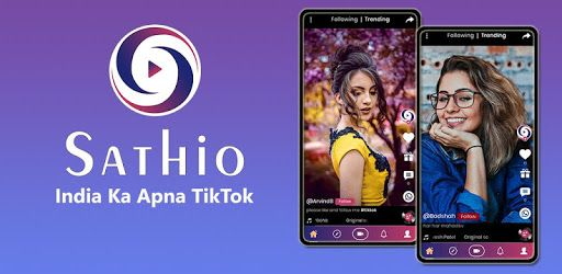 Sathio Short Video Platform India Ka Tiktok Sathio Is A Free Short Video And Social Platform App For People To Showca Video App Trending Music Dance Videos