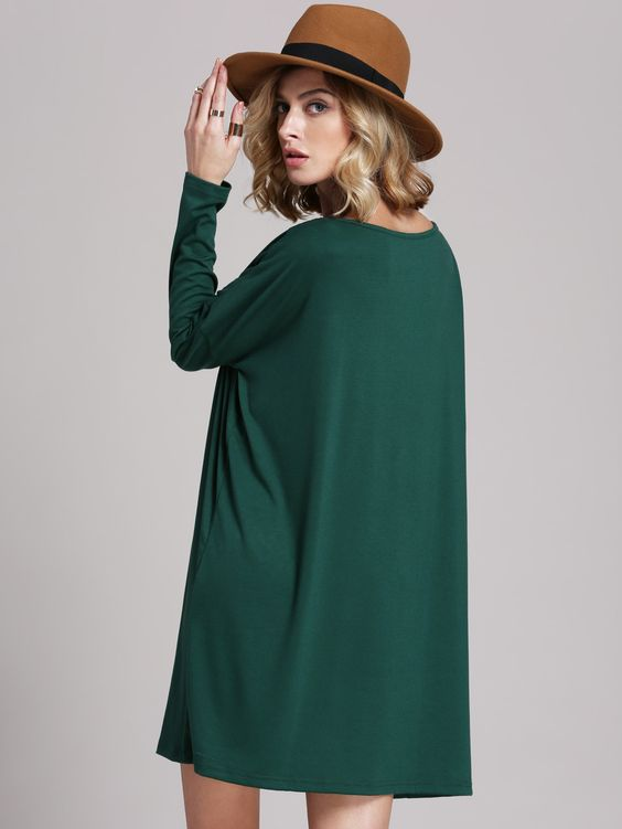 Dark Green Dress Casual