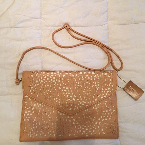 Francesca's Collections Cutout Paisley Clutch Cutout Paisley Clutch -NWT -Removable strap Francesca's Collections Bags Clutches & Wristlets