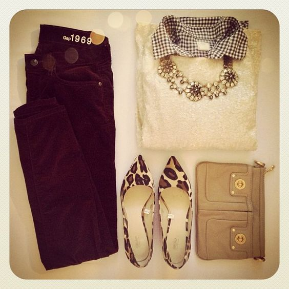 Holiday look 4. Button down and 3/4 sleeve sequin tee #jcrew, pants #gap, heels #target, clutch #MBMJ and jewels #stelladot