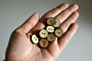 Image of Wooden Buttons