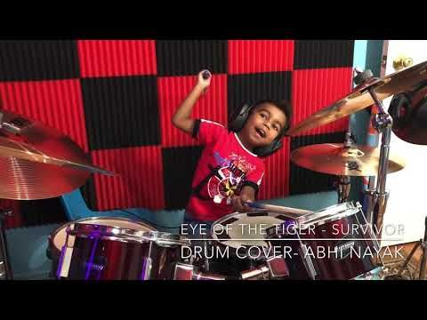 Eye Of The Tiger Survivor Drumcover By Abhi Nayak Youtube In 2020 Music Video Song Survivor Drum Cover