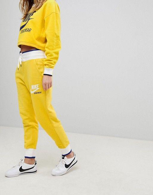 yellow nike tracksuit
