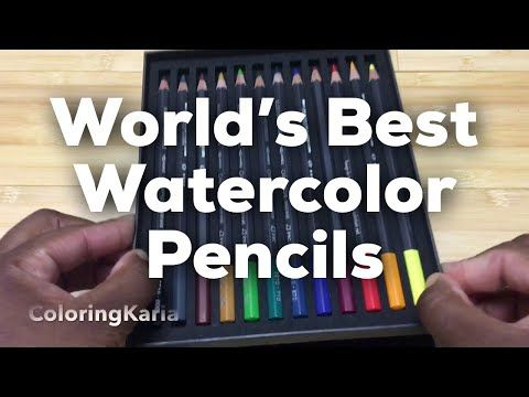Caran D Ache Museum Aquarelle Watercolor Pencils Review Youtube