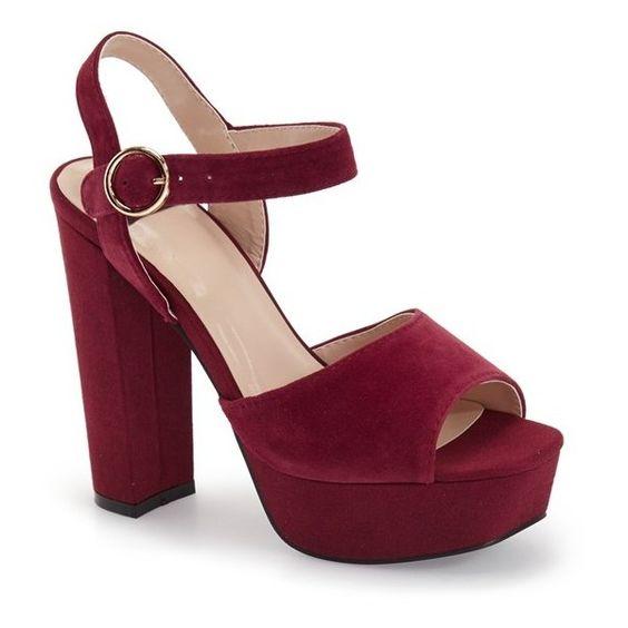 """N.Y.L.A. 'Ivery' Platform Sandal, 5"""" heel ($95) ❤ liked on ..."""
