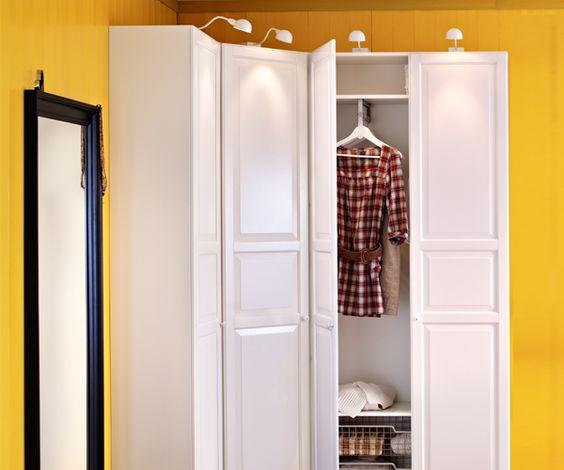 Notre chambre dressing love the idea of a corner wardrobe - Ikea armoires chambre ...