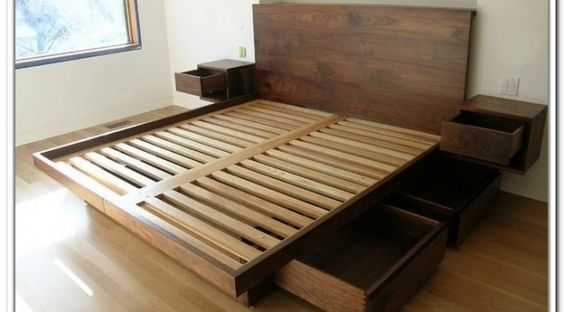 California King Storage Bed Frame