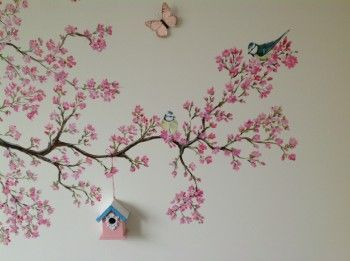 Muurschildering kinderkamer van Elisabelkunst