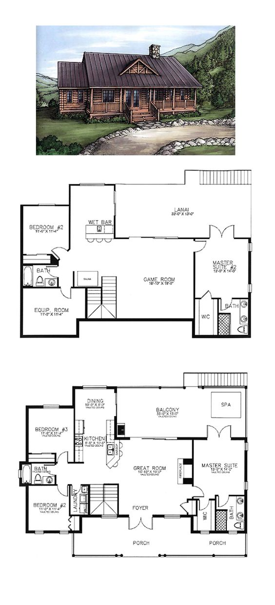 House Plans Home And Log Houses On Pinterest