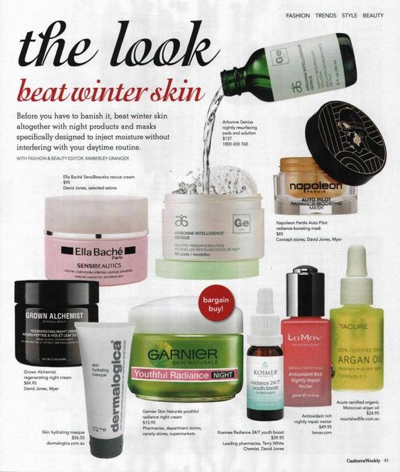 [In the News] Seen in the latest edition of Canberra Weekly, #Arbonne Intelligence Genius has been featured as one of the best weapons to fight winter skin.  Find out more about this amazing skincare revolution here: www.surshae.com or my FB page at surshae @Arbonne International. Consultant ID: 21565488