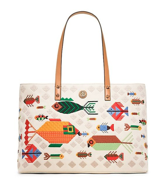 Tory Burch Tote Bag Mit Fisch-stickerei