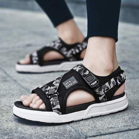 2017 Roman Mens Non-Slip Open Toe Buckle Outdoor Beach Casual Sandals Shoes New