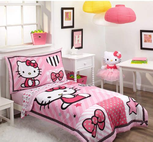 Hello Kitty Sweetheart 4 Piece Toddler Bedding Set Toddler Bed