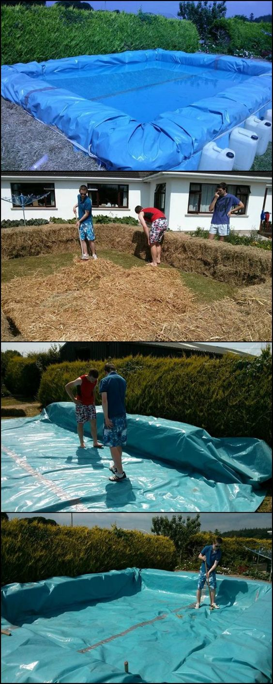 Kid home and pools on pinterest for Hay bail pool
