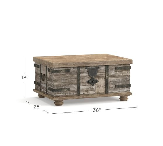 Kaplan Lift Trunk Pottery Barn Wooden Chest Reclaimed Wood Wood