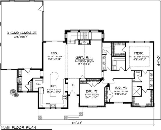 House Floor Plan for #44113 - New House Plans 2345 square feet- need