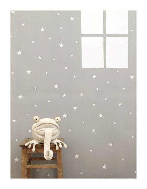 tayo studio — 76 white | מדבקות קיר כוכבים לבנים